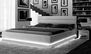 Platform Bed Ebay - ladeso sf 848 k lg sl brooklyn grey modern king platform bed w led