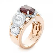 custom rings with images Custom rose gold ruby and diamond fashion ring 102883 jpg