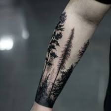 masculine guys forearm tree design ideas mike