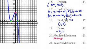 Graphing X And Y Intercepts Worksheet Day 10 Hw 1 To 31 Domain Range End Behavior Increasing