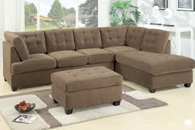 3 Seat Sectional Sofa Poundex F7140 2 Pcs Truffle Waffle Suede Sectional Sofa Set