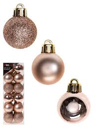 deluxe set of baubles gold silver white luxury