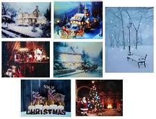 light up xmas pictures led canvas wall hanging decorations ebay