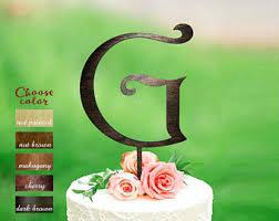 g cake topper g cake topper etsy