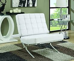 Accent Chairs In Living Room by Amazon Com Coaster Home Furnishings Accent Chair White White