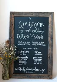wedding program sign folding chalkboard sign chalkboard wedding program rustic by