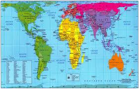 Upside Down World Map Fun