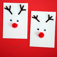 make a christmas card reindeer cards kid made christmas cards non gifts