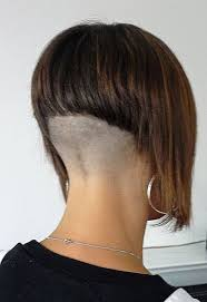 short stacked bob haircut shaved high shaved nape google search shaving pinterest