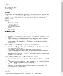 Engineer Resume Templates Professional Broadcast Engineer Templates To Showcase Your Talent