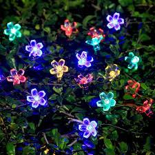 colorful flower gardens solar string lights ideapro garden flower lights 50 led 7m