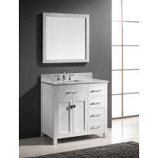 abodo 36 inch white caroline parkway single sink bathroom vanity