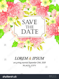 wedding invitation cards floral elements stock vector 309832481