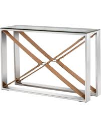 Metal Console Table Amazing Deal On Moncasa Mavis Stainless Steel Console Table