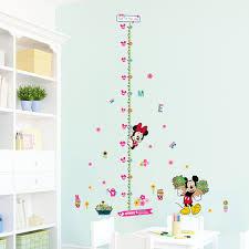 tableau pour chambre d enfant minnie mickey croissance tableau stickers muraux pour chambre d