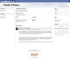 template de facebook para moodle