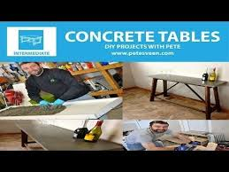 diy concrete table top excellent step by step instructions on how to build concrete table