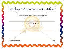 employee appreciation certificate template certificate template net