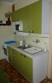 kitchen modern minimalist white and green kitchen cabinet