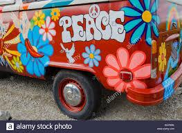 volkswagen van hippie blue painted vw hippie van stock photo royalty free image 78848322