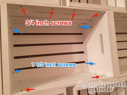Making Wooden Shelves For Storage by Storage Made Simple Diy Wooden Crate Bookshelf Apartmentguide