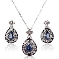 necklace set blue stone images New silver necklace blue stone jewellry 39 s website jpg