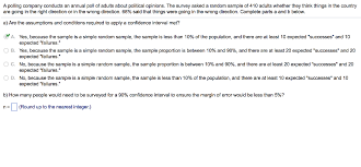 a polling company conducts an annual poll of chegg