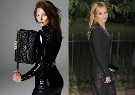 kate moss dyes her hair brunette for a new versace campaign