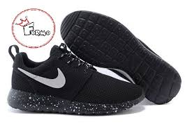 rosh run custom nike roshe run oreo athletic running shoes white speckled