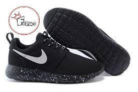 rosch run custom nike roshe run oreo athletic running shoes white speckled on