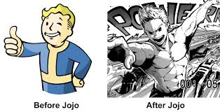 Vault Boy Meme - vault boy before and after jojo s bizarre adventure vaulting