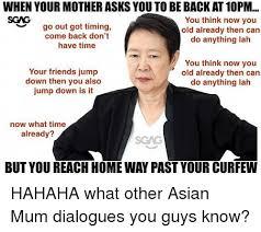 Asian Mother Meme - 25 best memes about dialogues dialogues memes