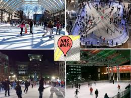 mapping 15 ice skating rinks in the d c metro area