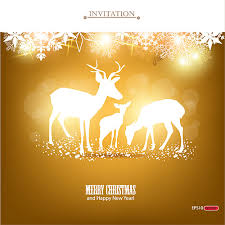 happy new year invitation merry christmas and happy new year invitation free vector