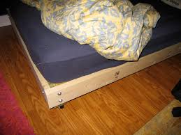 Simple King Platform Bed Frame Plans by Strong And Tough Platform Bed Diy 7 Steps With Pictures