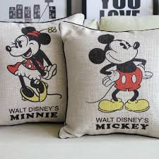Mickey Home Decor Mickey Mouse Pillow Mickey And Minnie Cushion Linen