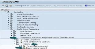 Sap Material Master Tables by Sap Co Assigning Materials To Profit Center