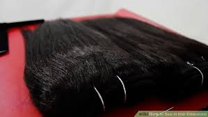 sewed in hair extensions 4 ways to sew in hair extensions wikihow