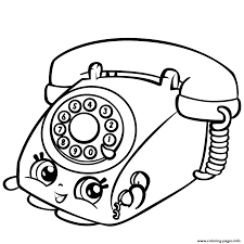rotary telephone shopkins season 3 coloring pages printable