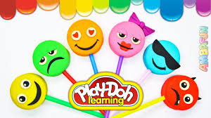 play doh smiley or emoticons how to make rainbow emoji lollipop