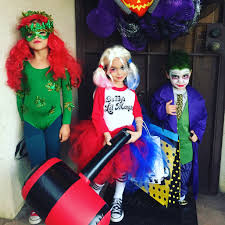 poison ivy harley quinn and joker batman villians kids