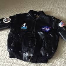 Boys Leather Bomber Jacket 33 Off Jackets U0026 Blazers Boys Official Nasa Bomber Jacket From
