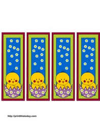printable easter bookmarks to colour free printable easter bookmarks with rabbit bookmarks pinterest