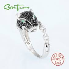 sted rings santuzza silver leopard ring for women 925 sterling silver fashion