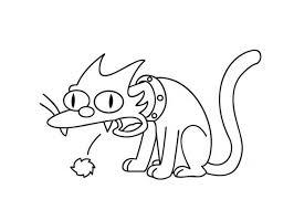 simpsons cat colouring pages gekimoe u2022 25874