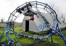 roller coaster for backyard john iver s blue flash roller coaster neatorama