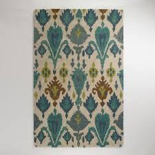 Modern Ikat Rug Floors Rugs Blue Ivory Ikat Rug
