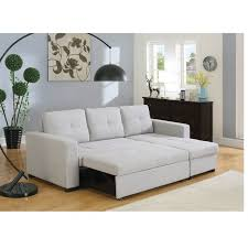 Beige Sectional Sofas Everly Beige Sectional Sofa With Sleeper