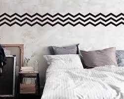 3 chevron stripes wall pattern decal