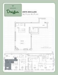 Floor Plan Of A House With Dimensions Live Work The Dreyfus